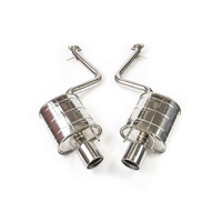 Invidia Q300 Diff Back Exhaust w/Stainless Rolled Tips - Lexus IS250 GSE30R 13-15/IS350 GSE31R 13-20