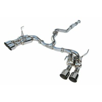 Invidia R400 Turbo Back Exhaust System w/SS Tips - 11-14 WRX Sedan/11-19 STI Sedan